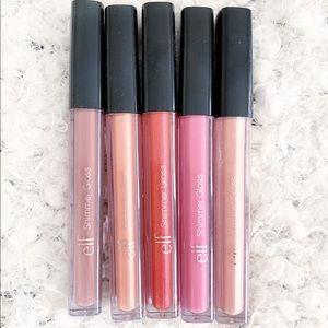 Elf Shimmer Gloss Nudes Set of 5 NWT